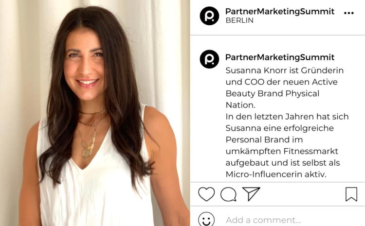 Susanna Knorr: Mikro-Influencerin sowie Mitgründerin und COO von Physical Nation